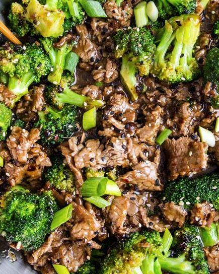 Liellopa gaļa ar brokoļiem ķīniešu gaumē