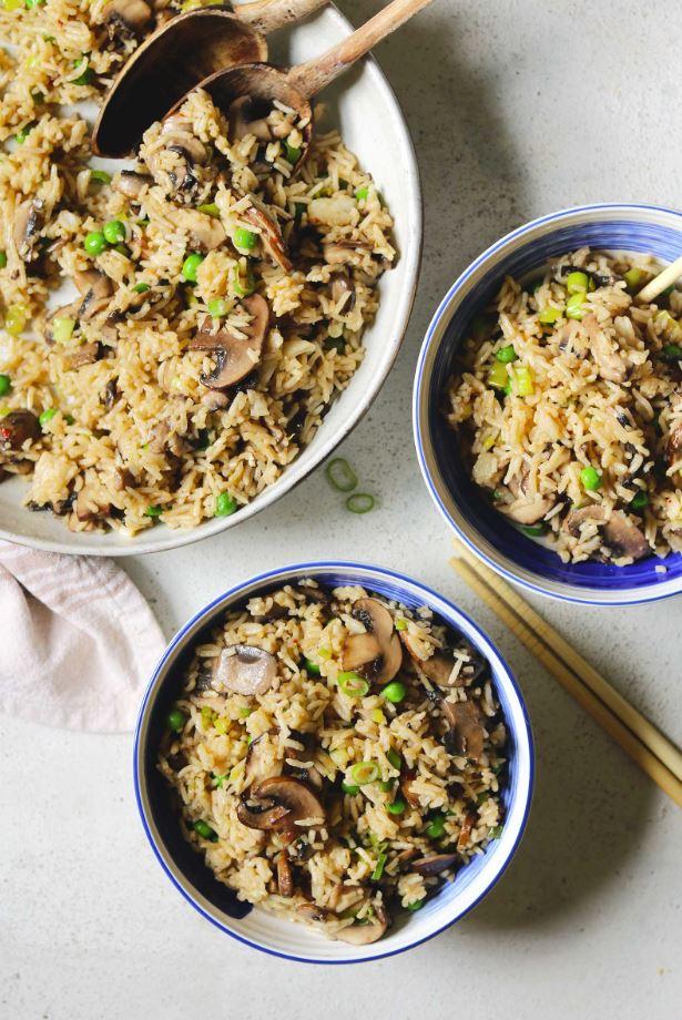 Rīsi ar sēnēm